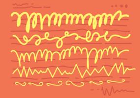 Line Squiggle sömlös mönster vektor