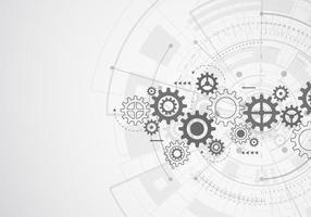 abstrakt teknik för vetenskaplig bakgrund. futuristiskt gränssnitt med geometriska former. vektor illustration
