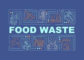 Lebensmittelverschwendung Wort Konzepte Banner vektor