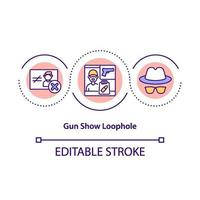 Gun Show Schlupfloch Konzept Icon vektor