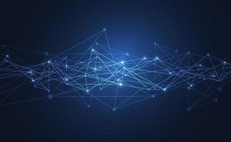 internetuppkoppling, abstrakt vetenskap och teknik grafisk design. vektor illustration