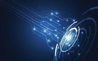 Kommunikationskonzept der abstrakten Technologieinnovation digitales blaues Designhintergrund. Vektorillustration vektor