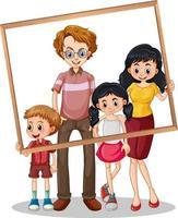 isoliertes Familienbild mit Fotorahmen