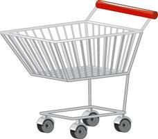 leerer Einkaufswagenwagen lokalisiert auf weißem Hintergrund vektor