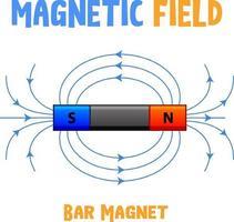 stångmagnetens magnetfält
