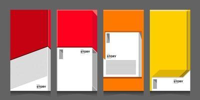 vektor abstrakt modern minimalistisk geometrisk arkitektur i rött, orange och gult för banner- och affischbakgrundsmall