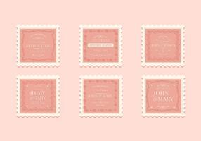 Vintage Hochzeit Briefmarkensammlung