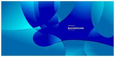 Vektor abstrakte geometrische und Kurve minimalistischen Farbverlauf in blau und weiß für Social Media Banner Hintergrundvorlage