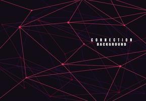 abstrakta anslutande prickar och linjer med geometrisk bakgrund. modern teknik anslutning vetenskap, polygonal struktur bakgrund. vektor illustration