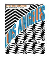Los Angeles vintage typografi design vektorillustration. kläder, t-shirt, kläder och andra användningsområden. vektor