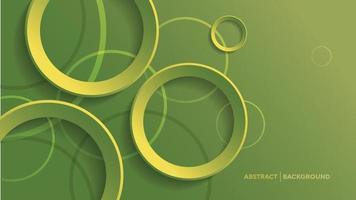 abstrakter geometrischer Hintergrund mit grünem Verlaufskreishintergrund vektor