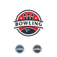 professionelle Bowling Team Logo Sport Abzeichen Vektor Vorlage