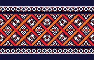 ethnisches Boho-Muster mit geometrischen in hellen Farben. Design für Teppich, Tapete, Kleidung, Verpackung, Batik, Stoff, Vektor-Illustration Stickstil in ethnischen Themen. vektor