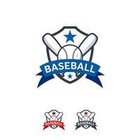 Baseball Sport Logo Designs Abzeichen Vektor Vorlage, professionelle Sport Abzeichen Logo