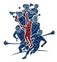 Hurling Sportspielerteam vektor