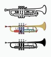 Musikinstrument für Trompetenorchester vektor