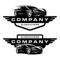 sportbil logotyp vektor
