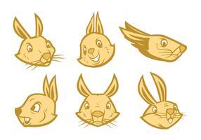 Kostenlose Kaninchen-Logo-Vektor vektor