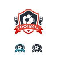 Fußball Sport Logo Designs Abzeichen Vektor Vorlage, professionelle Fußball Sport Abzeichen Logo
