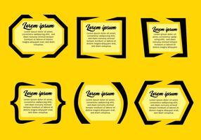 Citat Markera Text Bubbla Vector Set