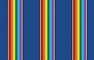 geometrisches nahtloses Muster des ethnischen blauen Stolzes im Stoffstil. Design für Teppich, Tapete, Kleidung, Verpackung, Batik, Stoff, Vektor-Illustration Stickstil in ethnischen Themen. vektor