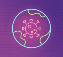 Neonlicht mit Coronavirus-Präventionssymbol