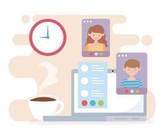 online-möteskoncept med bärbar dator