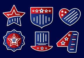 Amerika-Unabhängigkeitstag-Element-Vektoren vektor