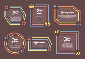 White Testimonials Zitat Design Vorlage Vektoren