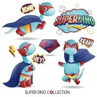 niedlicher Superdinosaurier mit Aquarellillustration