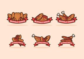 Buffalo Wings Abzeichen Vector Pack