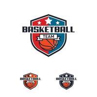 Basketball Logo Abzeichen Designs, Basketball Logo Emblem, Vektor-Vorlagen