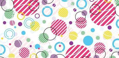 abstrakt cirkel geometrisk bakgrundsdesign för banner, flygblad, bokomslag, affisch. anslutningslayout punkt och linje. vektor illustration