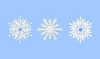 snöflinga vinter ange ikon design på blå bakgrund. vektor illustration