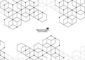 abstrakte Boxen Hintergrund. moderne Technologie mit quadratischem Netz. geometrisch auf weißem Hintergrund mit Linien. Würfelzelle. Vektorillustration