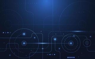 abstrakte Technologie Punkt und Linie Verbindung digitalen Hi-Tech-Design-Konzept Hintergrund. Platz für Text. Vektorillustration