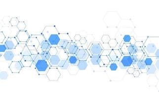 Molekülstruktur abstrakter technischer Hintergrund. medizinisches Design. Vektorillustration vektor