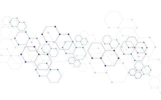 Molekülstruktur abstrakter technischer Hintergrund. medizinisches Design. Vektorillustration