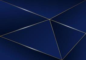 abstrakt polygonal mönster lyxig gyllene linje med mörkblå mall bakgrund. premium stil för affisch, omslag, tryck, konstverk. vektor illustration
