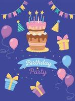 Alles Gute zum Geburtstag Feier Karte vektor