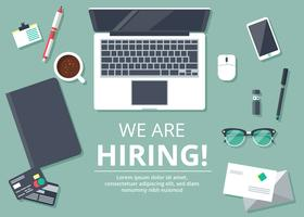 Jobb Hiring Illustration vektor