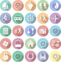 Reihe von Web-Symbolen für Business, Finanzen und Kommunikation vektor