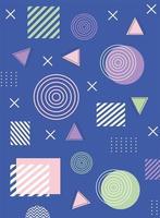 färgglad geometrisk och abstrakt bakgrund vektor