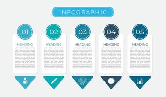 modern infografik av affärsplanikoner vektor