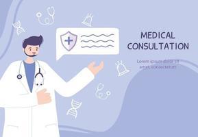 online hälsovård banner mall vektor