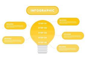 infografisk glödlampa med faktabubblor vektor