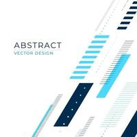 abstrakt banner med streckade linjer och former i en diagonal komposition vektor