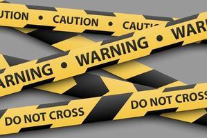 Warnschild, gelbe und schwarze Streifenbänder, Vektorillustration vektor