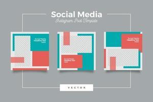 dynamisk modern social media mall banneruppsättning vektor
