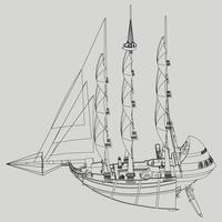 linear vom Raumschiff